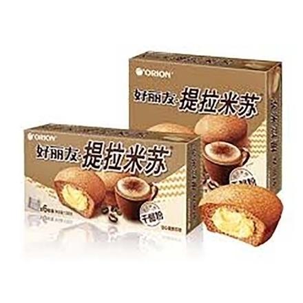 Picture of Orion cake(Tiramisu) 6 pieces,1 box, 1*16 box | 好丽友蛋糕(提拉米苏)6枚,1盒,1*16盒