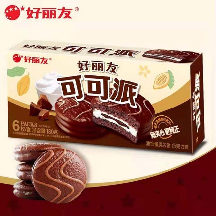 Picture of Orion cake(Cocoa Pie) 6 pieces,1 box, 1*16 box | 好丽友蛋糕(可可派)6枚,1盒,1*16盒