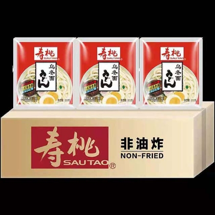 Picture of Shou Tao (Japanese-style udon noodles) 200g,1 pack, 1*30 pack|寿桃(日式乌冬面)200g,1包,1*30包