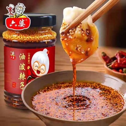 Picture of Liupo (spicy sauce oil 230g,Beef sauce 260g),1 bottle, 1*24 bottle|六婆(油泼辣子230g,牛肉酱260g),1瓶,1*24瓶