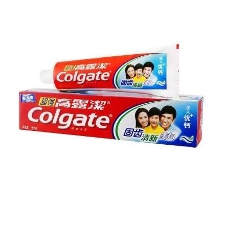 Picture of Colgate toothpaste super high calcium 90g,1 box, 1*36 box|高露洁牙膏超强高钙薄荷味90g,1盒,1*36盒